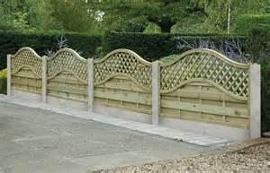 Garden Fence Trellis Top Omega Lattice Top Fence Panels Cocklestorm Fencing