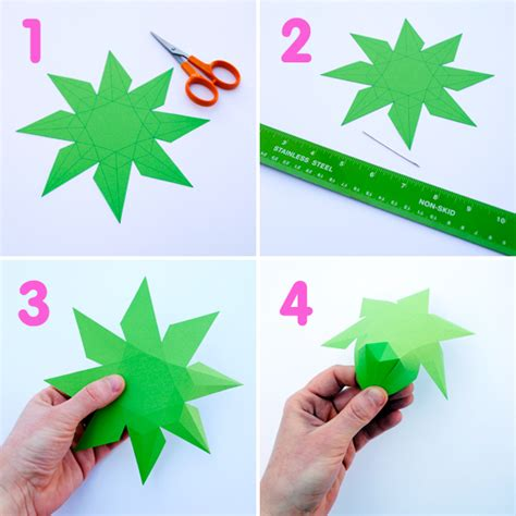 How To Make A Paper 3d - 3d paper diamonds minieco