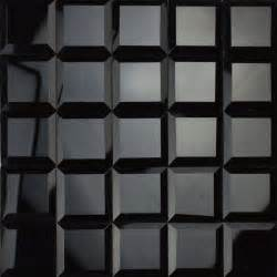 3d Kitchen Design App glossy black color 5 faced diamond mirror glass mosaic