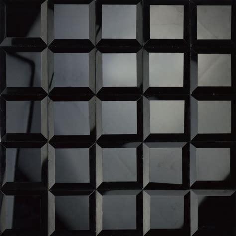 black mirror glass glossy black color 5 faced diamond mirror glass mosaic
