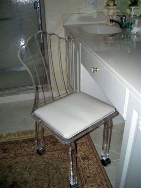 vanity chair for bathroom with wheels the chic vanity chairs for bathroom shower remodel