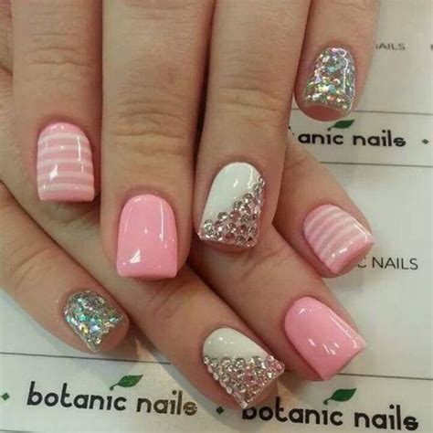 nail art rhinestones tutorial easy rhinestone nail designs for short nails to do at home