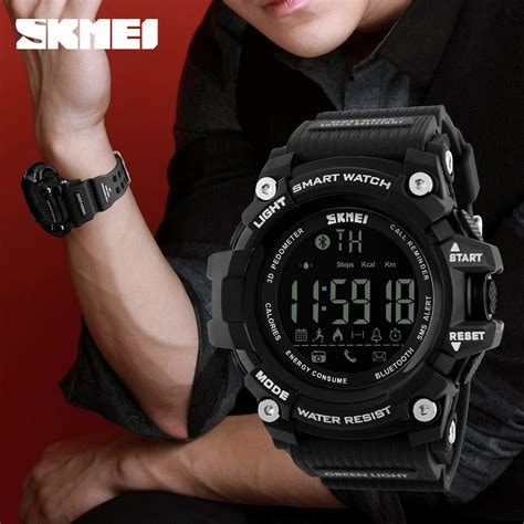 Skmei Jam Tangan Olahraga Smartwatch Bluetooth Dg1227 Bl skmei jam tangan olahraga smartwatch bluetooth dg1227 bl black jakartanotebook