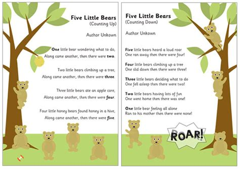new year song for eyfs 5 bears counting rhymes free early years