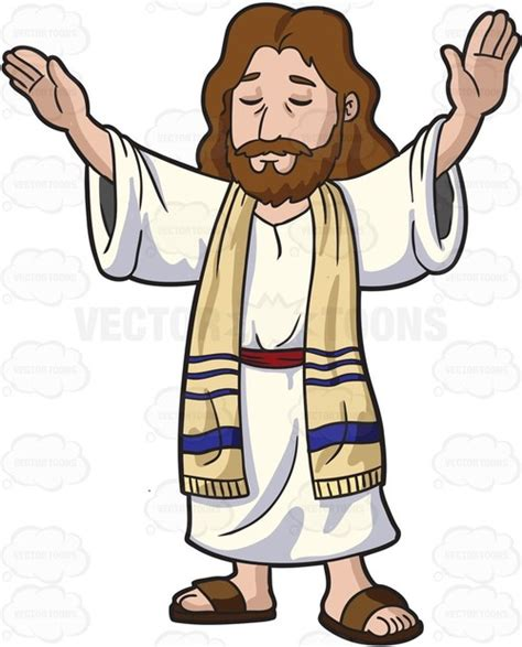 jesus clipart jesus concentrates while blessing the