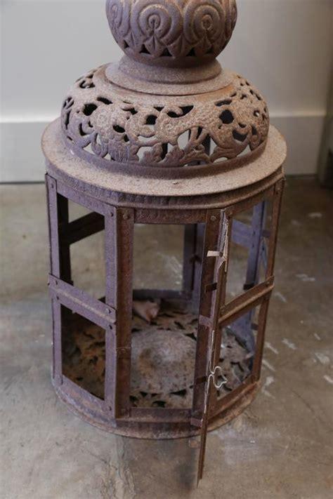 Pierced Metal L by Decorative Pierced Metal Lantern For Sale At 1stdibs