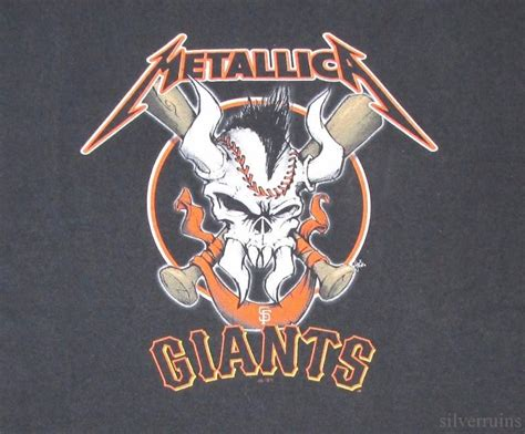 Kaos Metallica Tshirt Gildan Softstyle Metal 04 metallica t shirt san francisco giants sports heavy metal band ebay