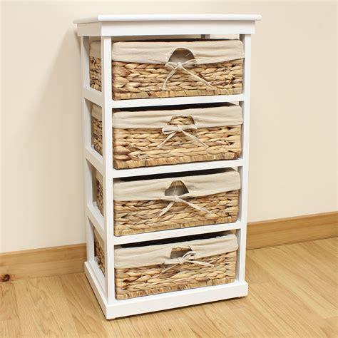 white wicker bathroom drawers hartleys large white 4 basket home storage unit bathroom