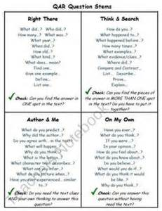 qar template 1000 images about questioning on texts