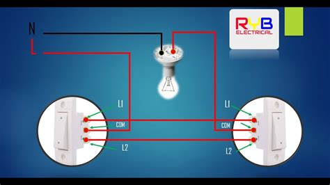 light switch wiring diagram youtube