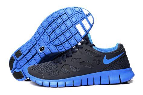 black blue nike free run 2 s running shoes 60 00