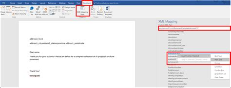 create a section in word how to create microsoft word templates in dynamics 365