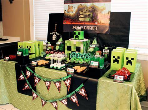 party ideas minecraft creeper birthday party birthday party ideas