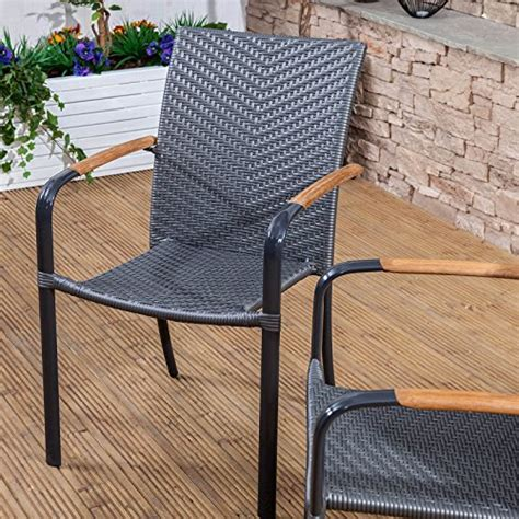 alfresia naples set of 2 outdoor garden chairs grey