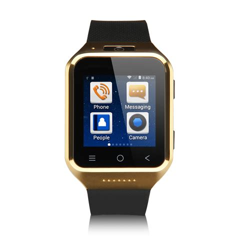 Smart Phone 1 54 Inch Gold smart armband uhr android 4 4 mtk6572 2 0mp kamera