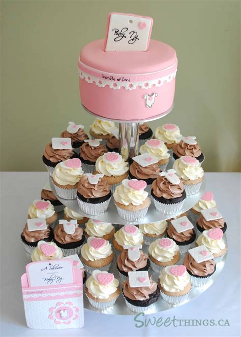 Cupcake Tower For Baby Shower by Sweetthings Baby Shower Cupcake Tower
