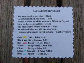 salvation bracelet color meanings salvation bracelet what the colors sunday school