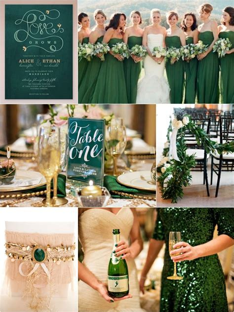 Weddings by Color ¦ Shades of Emerald   Gold   Wedding
