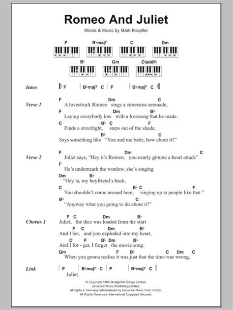 theme song of romeo and juliet lyrics romeo and juliet sheet music direct