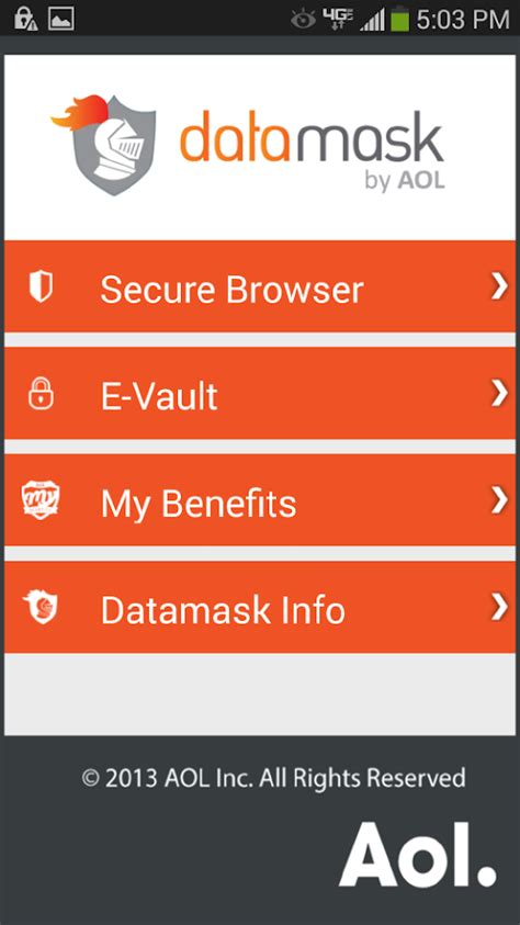 aol mail android settings datamask by aol android apps on play