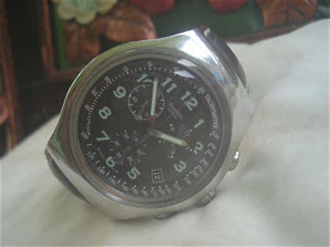 Paling Laku Tali Kulit Jam Swatch Irony Chrono 19mm Leather jamtangan automatic sold swatch irony chronograph ag 2005 quot big size quot