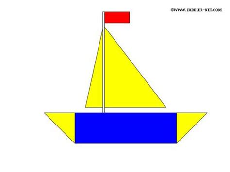 boat shapes craft cut out shape worksheets car interior design