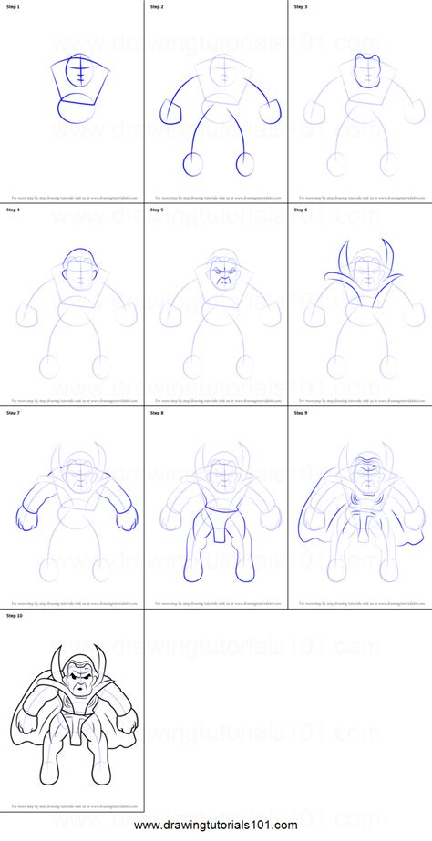 printable heroes tutorial how to draw baron mordo from the super hero squad show