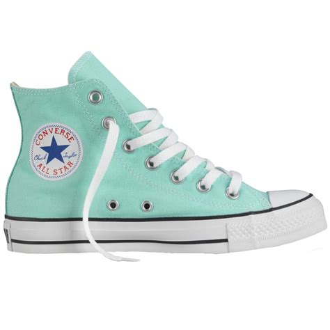 Converse High Chili 37 44 converse aqua glass hi top chuck all trainers