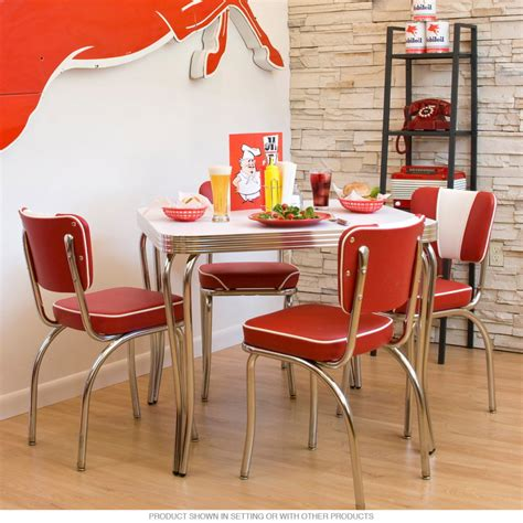Retro Dining Room Table And Chairs Interior Captivating Picture Of Retro Dining Room Design And Decoration Using Stainless Steel