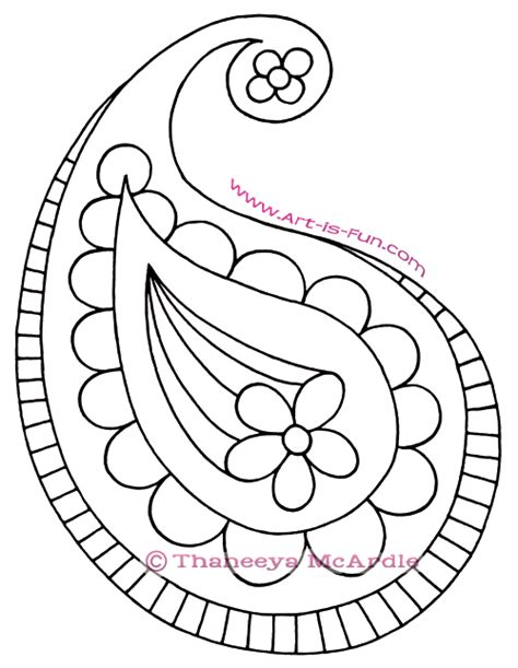 simple drawing patterns how to draw paisley a fun easy step by step drawing