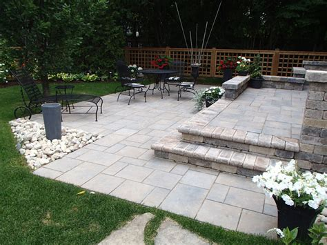 patio landscaping backyard patio and landscape designs in guelph