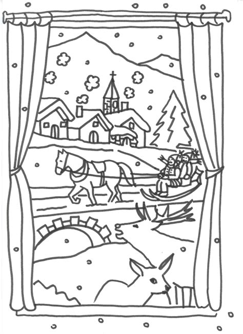 coloring pages winter landscape free coloring pages of winter landscape