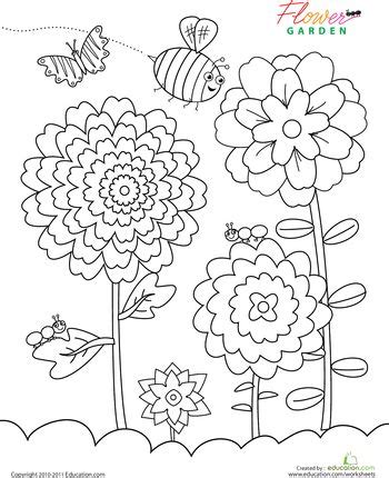 garden coloring pages for preschool flower garden coloring page gardens coloring and flowers