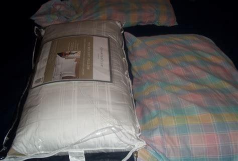 flat bed pillows charter club bedding medium support down alternative