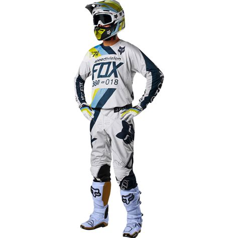 fox motocross gear combos 2018 fox racing 360 draftr gear kit light grey sixstar