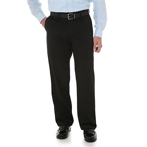 Casual Pant by Wrangler 174 Comfort Solutions Series Flat Front Casual