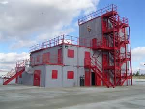 Modern Warehouse Design expandable training facility fireblast global