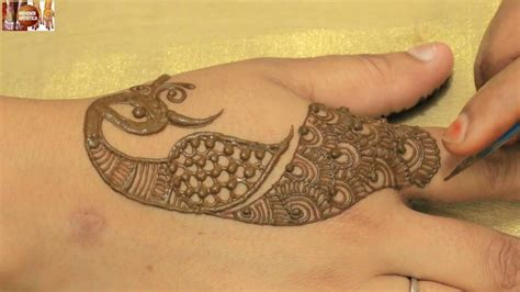 henna tattoo hand youtube different stylist peacock henna mehndi for
