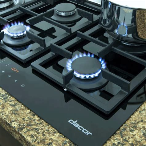 Dacor 36 Inch Gas Cooktop - dacor rntt365gbng 36 inch touchtop gas cooktop with 5