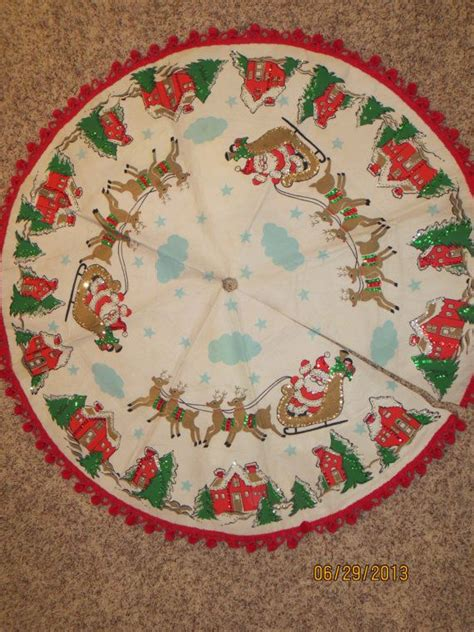 handmade christmas tree skirt christmas santa reindeer