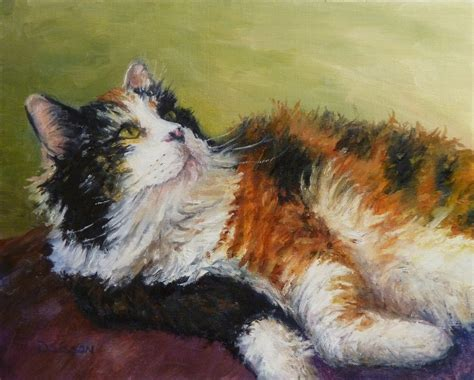 painting cats daily painters of arkansas calico in repose debra sisson