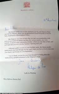 Response Letter For Birthday Poll Who Invited The To Birthday Receives Letter Daily Mail