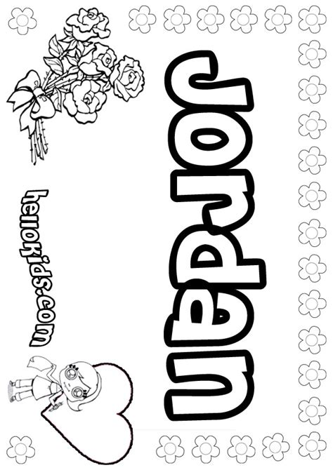 coloring pages of the name jordan jordan coloring pages hellokids com