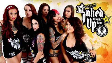 expo tattoo 2015 youtube tattoo convention coverage rockstar energy miss inked up