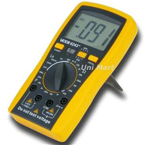 continuity test on inductor vc6243 multimeter inductance capacitance compared fluke ebay