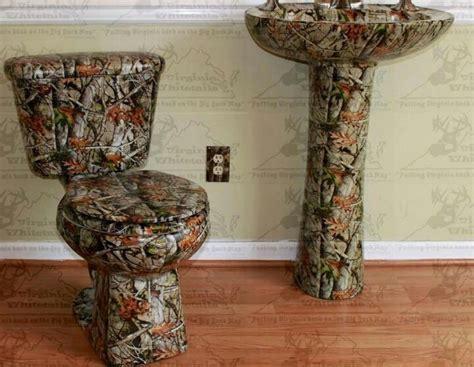 camo toilet and sink ka mere deer pinterest toilets