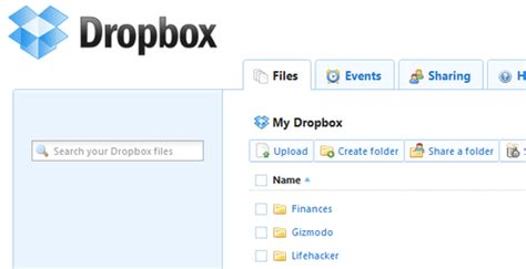 dropbox homepage use dropbox to share and host your web site