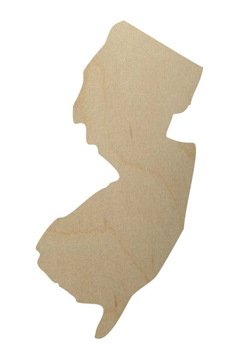 New Jersey State Wood Shape New Jersey Wood Cutout