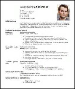 exemple cv technicien automobile livecareer