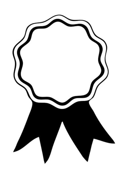 coloring page prize ribbon award ribbon printable clipart panda free clipart images